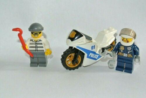 LEGO city : lot set  moto police voleur motard accéssoires
