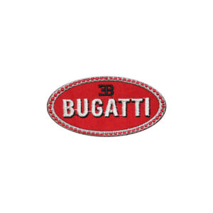 BUGATTI, Sports Car,Racing,Embroidered Patches,Iron On Patches,Sew On Badges