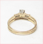 thumbnail 5 - Harold Freeman 14K Gold Brilliant Cut Diamond Estate Engagement Wedding Ring