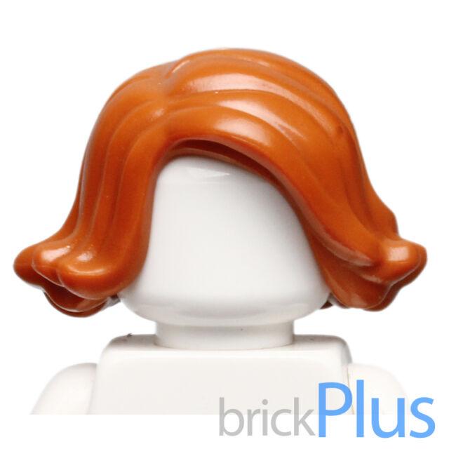 Female Short Hair Swept Sideways Lego New Dark Orange Black Widow Mini Figure