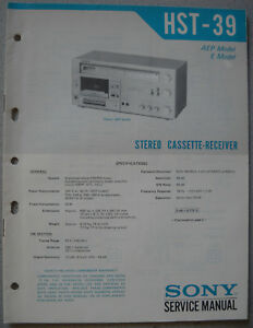 SONY-HST-39-Service-Manual