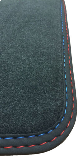 rot-blau Für Jaguar XJ X350 kurz Fußmatten Velours Deluxe anthrazit Nubukb