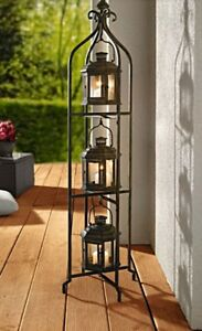 Image Is Loading Metal Floor Candle Stand Holder W 3 Tier