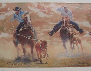 Image Is Loading COWBOYS CALF ROPING RODEO Wallpaper Border 9 034