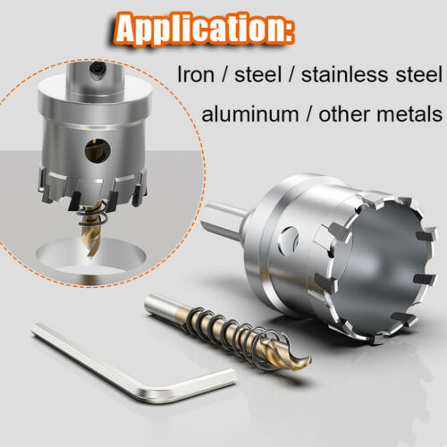14-75mm Stainless Steel Hole Saw Drill Bit For Metal Cast Iron Alloy Etc Cutting