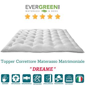 Topper Per Materasso Matrimoniale.Topper Memory Foam Matrimoniale 160x190 Alto 7 Cm Correttore