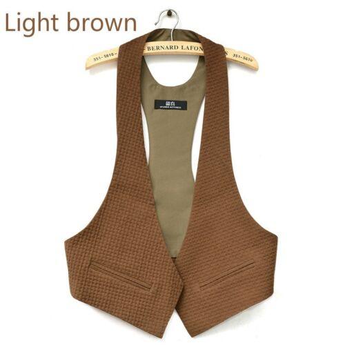 Ladies Linen Suit Vest Halter V Neck Waistcoat Vest Jacket OL Work Tops Plain