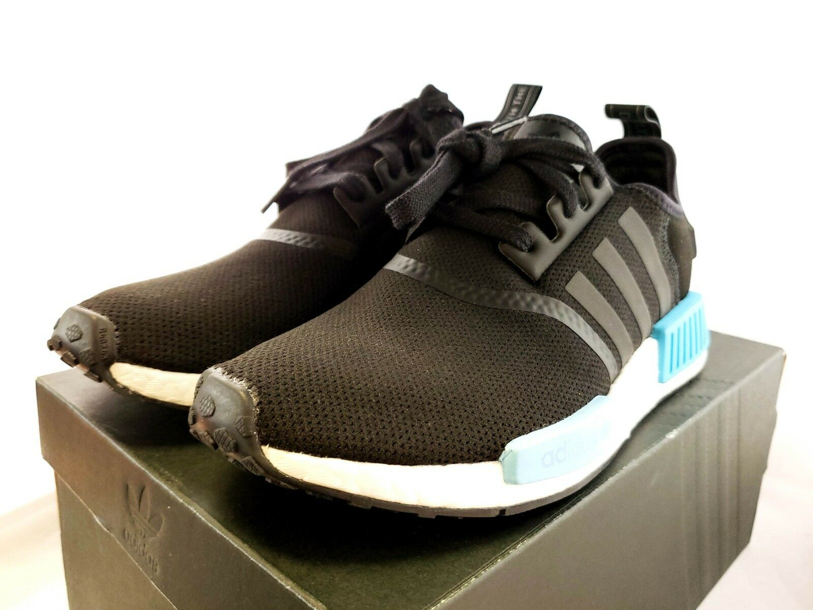 6b1d4a4d5f4c8 adidas NMD R1 W Black Icey Blue Light Ice By9951 Women Size 8.5 for ...
