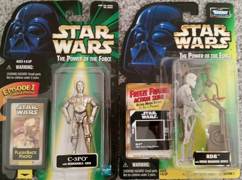 8D8 C3PO Star wars action figures power of the force POTF2