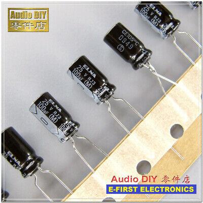 30pcs ELNA RJ3 Series 100uF//25V Electrolytic Capacitor 100UF 25V 6.3X11mm