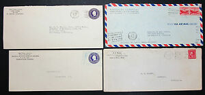 Postal-History-Set-of-4-US-Stamps-Covers-Letter-Envelope-GS-USA-Letter-H-7444