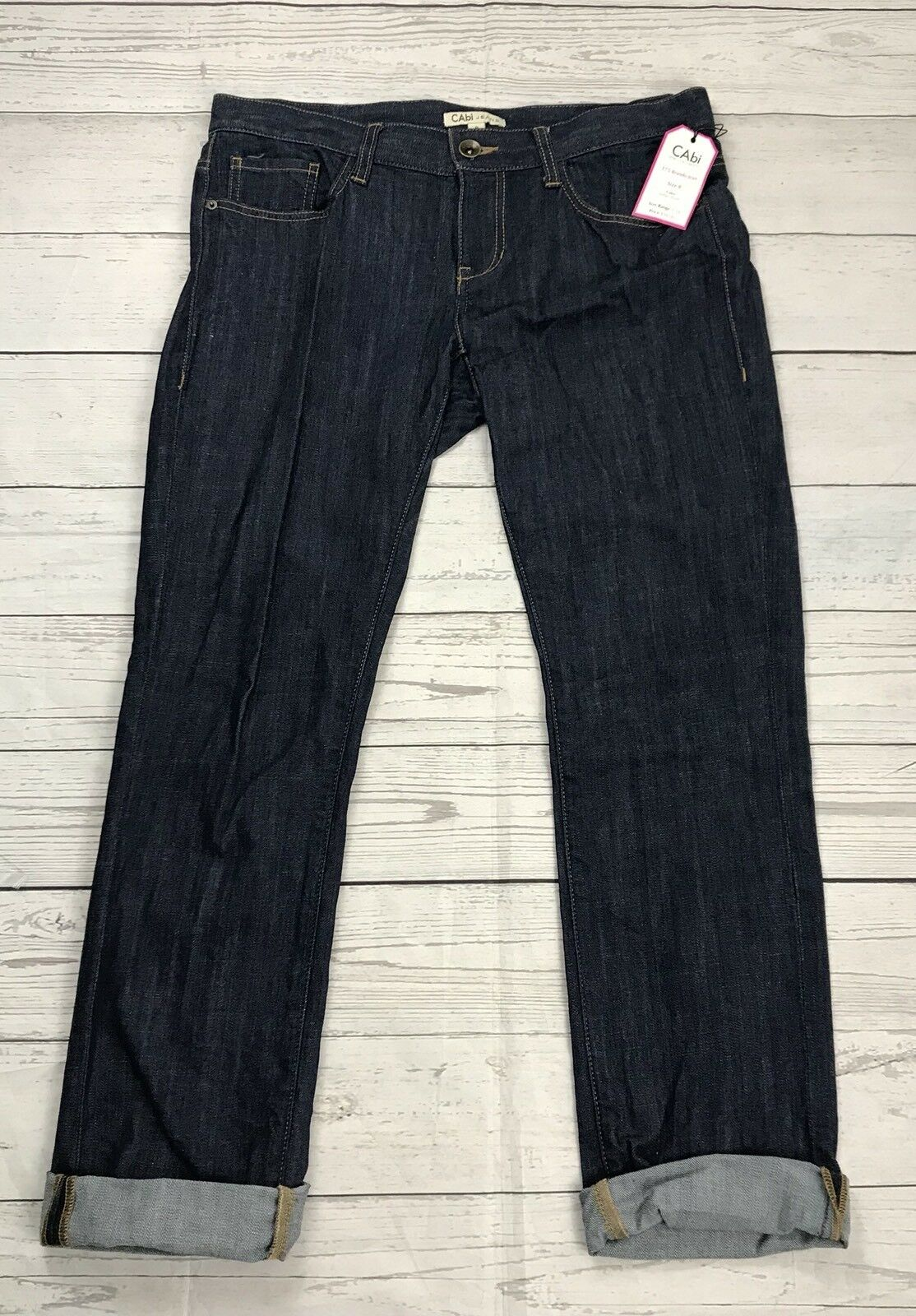 Cabi Women's 175 Brando Jeans Size 8 Regular Indigo Wash