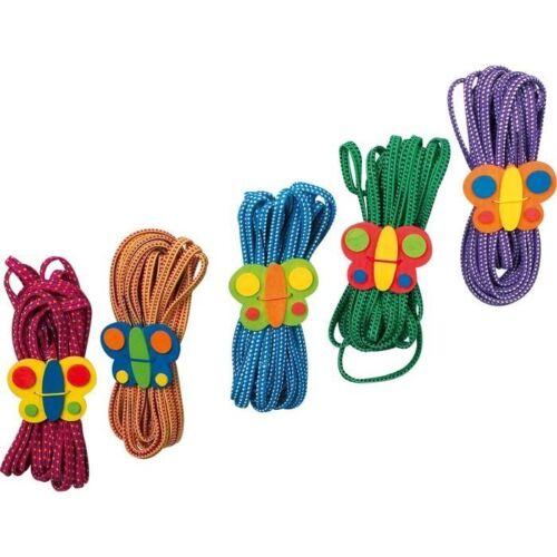 Corde Elastico per Saltare Farfalla,Set da 5.Gioco classico per bambini