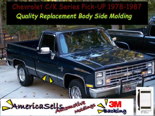 1978-1987 CHEVROLET C//K  PICKUP TRUCK BODY SIDE MOLDING GM OEM FACTORY STYLE
