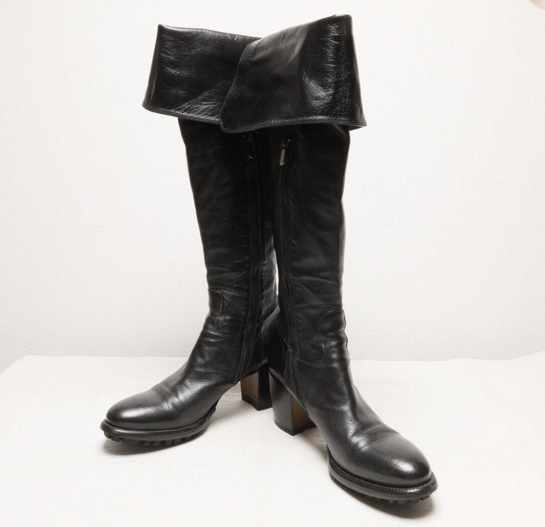 Rocco p. señora botas calcetas Black (Nero) UE 39 OVP Mint