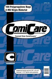 COMICCARE-100-CURRENT-SIZE-COMIC-BOOK-BAGS-PP