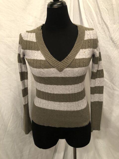 American Eagle Womens Sweater V Neck Gray Size Medium Ebay