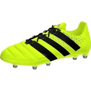 Details about adidas Ace 16.1 FG Leather Schuhe Fußballschuhe Stollen Schuhe Gelb Black S79684