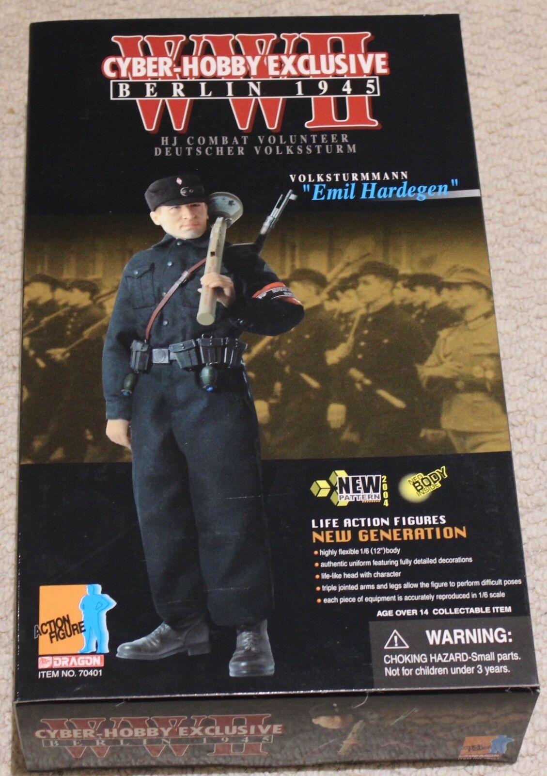 Dragon Action Figure 1 6 ww11 ww11 ww11 tedesco hardegen 12 in scatola ha fatto Cyber HOT Toy 84838b