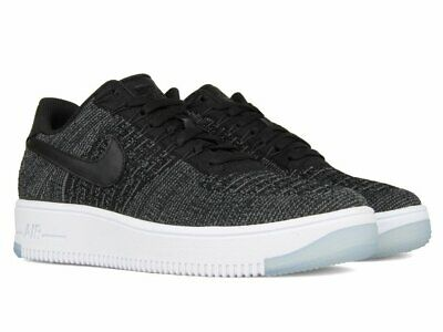to buy united states buy sale Nike Womens AF1 Air Force 1 Flyknit Low Black / White 820256 001 ...