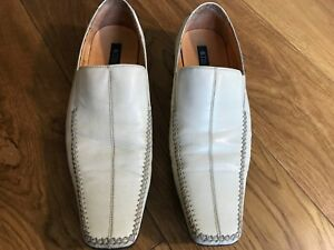 top quality new authentic large discount Tiger of Sweden Mens Handcrafted Vintage Leather White Loafer ...