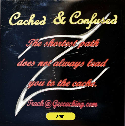 CACHED and CONFUSED GEOCOIN - BN - U T - NEW - HTF