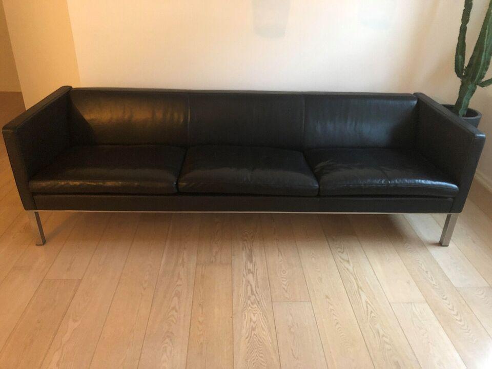 Erik Jørgensen, EJ 50-3, sofa i sort læder