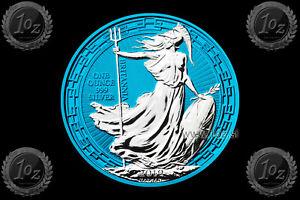 UK-BRITANNIA-2-POUNDS-2019-ORIENTAL-BORDER-1oz-SILVER-Coin-SPACE-BLUE