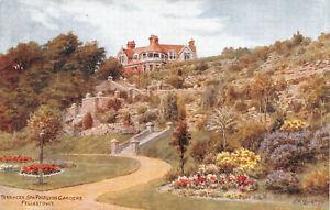 R269234 Terraces. Spa Pavilion Gardens. Felixstowe. A. R. Quinton. Salmon
