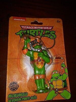 "Teenage Mutant Ninja Turtles MICHELANGELO figural key chain 2.5/"" NEW"
