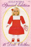 Vogue 826 18 Doll Clothes Pattern Dress - Uncut
