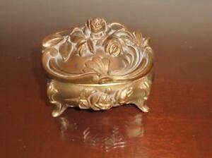 Antique Trinket Box----- Ormolu Plating ... Very Rare----Very Nice!!