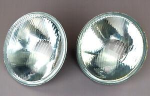 2-Glas-mit-Reflektor-fuer-Traktor-Scheinwerfer-Lampe-Oldtimer-Bagger-Schlepper