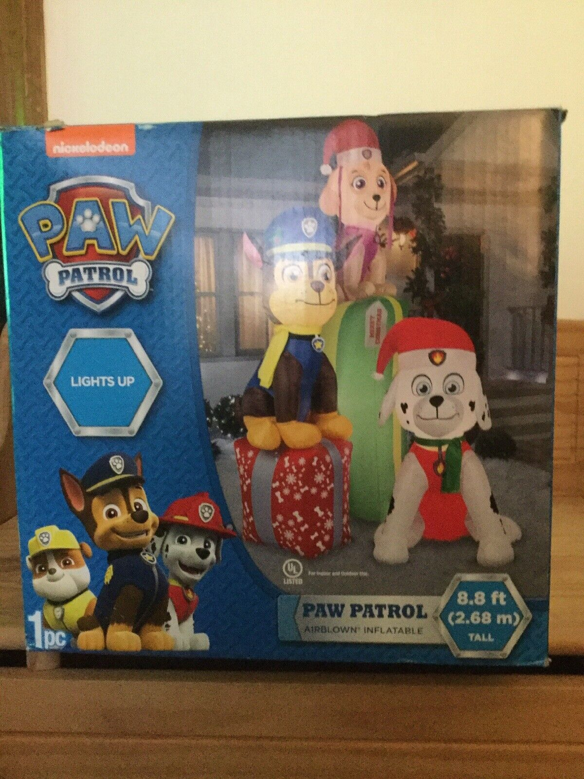 BIG 4.5/' Gemmy PAW PATROL Airblown CHASE Dog Light Up Inflatable Christmas NIB