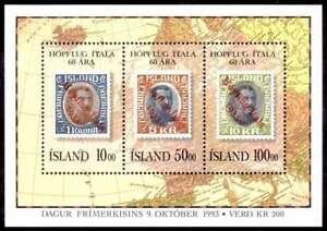 Avoir Un Esprit De Recherche Islande 1993, Timbres Sur Timbres, Balbo Vol Transatlantique Minisheet Neuf Sans Charnière/hank Les Commandes Sont Les Bienvenues.