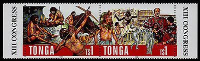 Methodisch Tonga,scott #929,ein Paar Von Prähistorische & Protohistoric Wissenschaften 1996 Briefmarken Brauchtum & Trachten