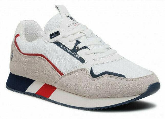 US Polo Assn LEWIS4135S1 HM1 Lewis 143 Sneakers Men's Shoes Laces White