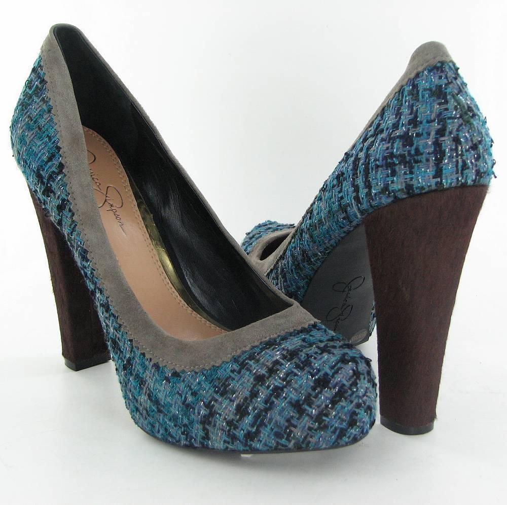 Jessica Simpson Schuhes Heels Platform Topazio Blau 8.5 NEU