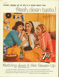 cbff5938adf50 1959 Vintage ad for 7-UP/50's fashion/teenage girls in ad (060813 ...