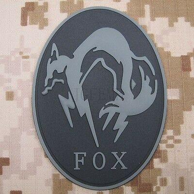 MGS Metal Gear Solid Ghost FOX  Morale tactics 3D PVC Velcro Patch
