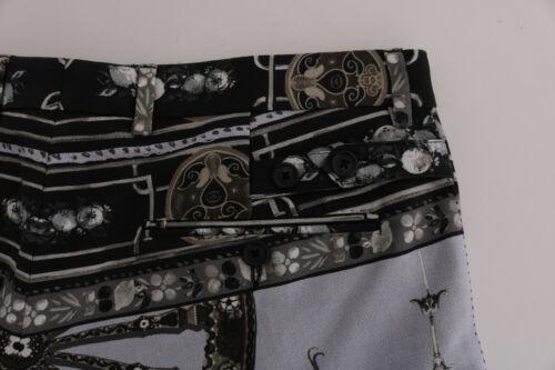 NEW $880 DOLCE /& GABBANA Pants Capri Trousers Dragon Cotton Linen s IT50 W36