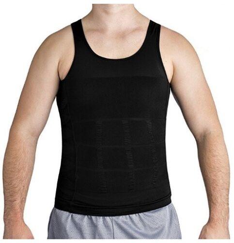 Bodywear Men/'s Body Slimming Compression Shirt Instant Slim Body Shaper Black XL