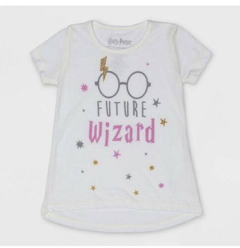 Harry Potter Toddler Girls /'Future Wizard/' White Short Sleeve Graphic T-Shirt.