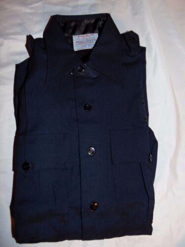 NWOT Unisex Blue JAQUAR CONUEROR Uniform Police Security Shirt Size 14 1//2 31