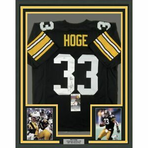 Details about FRAMED Autographed/Signed MERRIL HOGE 33x42 Pittsburgh Black Jersey JSA COA Auto