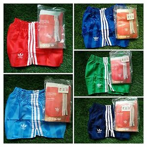 NEW-Adidas-Vintage-Shorts-Vinyl-Shiny-Chile-Runner-Sprinter-West-Germany-70-80-039-s