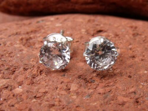 Blanco Cz Plata 925 Aretes silverandsoul artesanales de joyas