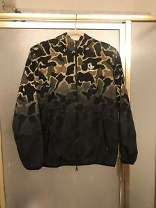 Details about NWT Adidas Camo Hoodie Windbreaker Rain Jacket Mens Size Small