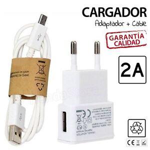 Cargador-de-red-2A-amperios-carga-rapida-universal-smartphone-movil-cable-blan