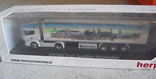 RARE Herpa Private HO 1/87 Scania Aachen Schumacher Tractor Trailer Truck NIB
